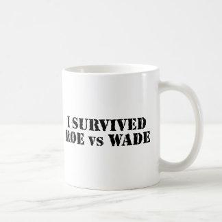 I survived Roe vs Wade Basic White Mug
