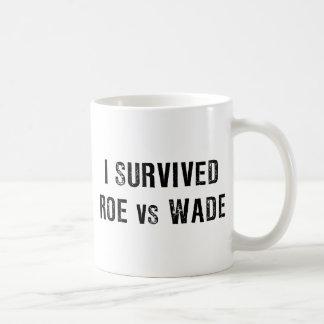I Survived Roe Vs Wade Classic White Coffee Mug