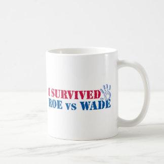I survived Roe vs Wade (hand) Basic White Mug