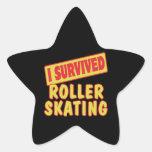 I SURVIVED ROLLER SKATING STAR STICKER