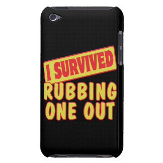 I SURVIVED RUBBING ONE OUT iPod TOUCH Case-Mate CASE