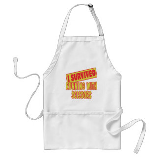 I SURVIVED RUNNING WITH SCISSORS APRONS