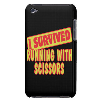 I SURVIVED RUNNING WITH SCISSORS iPod TOUCH CASE