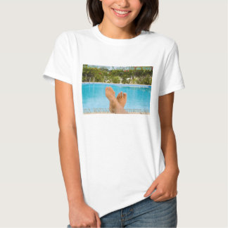 """""""I survived..."""", Sabliere pool, text embossed T Shirt"""