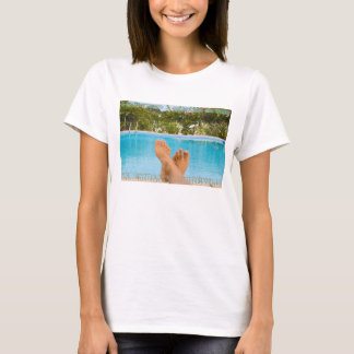 """""""I survived..."""", Sabliere pool, text embossed T-Shirt"""