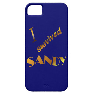 I survived Sandy, blue Case For The iPhone 5