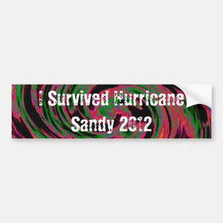 I Survived Sandy Bumper Sticker