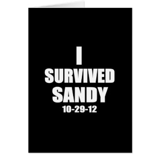 I Survived Sandy Greeting Card