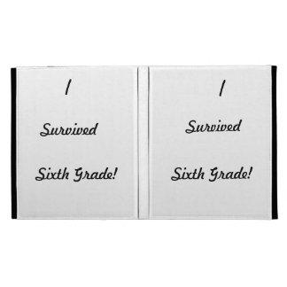 I survived Sixth Grade iPad Folio Cases