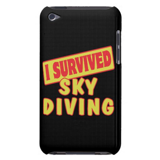 I SURVIVED SKYDIVING iPod TOUCH COVERS
