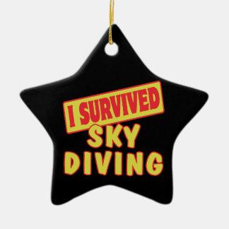 I SURVIVED SKYDIVING CERAMIC STAR DECORATION