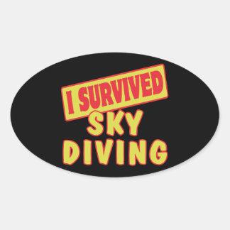 I SURVIVED SKYDIVING OVAL STICKER