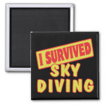 I SURVIVED SKYDIVING SQUARE MAGNET