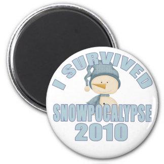 I Survived Snowpocalypse 2010 Magnet Magnet