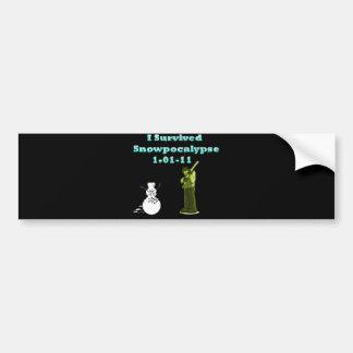 I Survived Snowpocolypse Bumper Sticker
