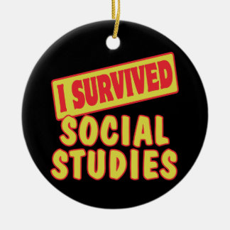 I SURVIVED SOCIAL STUDIES CHRISTMAS ORNAMENT