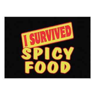 I SURVIVED SPICY FOOD CUSTOM INVITATION