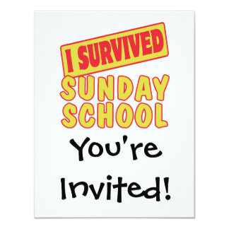 I SURVIVED SUNDAY SCHOOL CARD