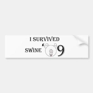 I Survived Swine '09 Bumper Stickers
