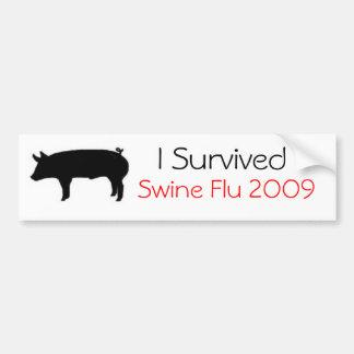 I Survived Swine Flu 2009 Bumper Sticker