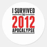 I Survived the 2012 Apocalypse! Round Stickers