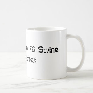 I Survived The '76 Swine Flu Outbreak Basic White Mug