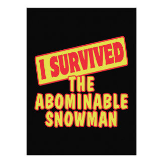 I SURVIVED THE ABOMINABLE SNOWMAN INVITATIONS