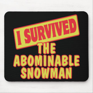 I SURVIVED THE ABOMINABLE SNOWMAN MOUSEPADS