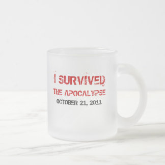 I Survived The Apocalypse Frosted Mug