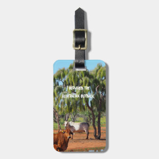 I survived the Australian outback luggage tag