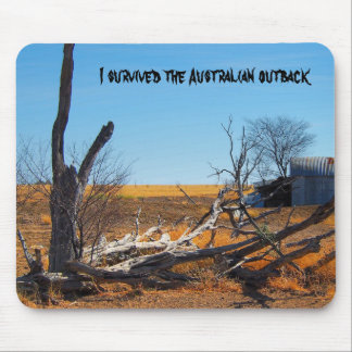 I survived the Australian outback mousepad