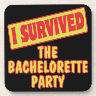 I SURVIVED THE BACHELORETTE PARTY BEVERAGE COASTERS