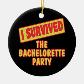 I SURVIVED THE BACHELORETTE PARTY CHRISTMAS TREE ORNAMENTS