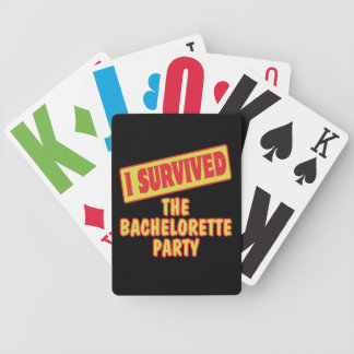 I SURVIVED THE BACHELORETTE PARTY BICYCLE CARD DECKS
