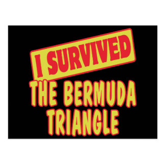 I SURVIVED THE BERMUDA TRIANGLE POSTCARDS