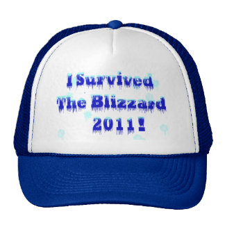 I Survived The Blizzard 2011 Mesh Hat