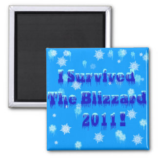 I Survived The Blizzard 2011 Refrigerator Magnets