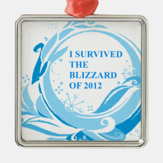 I survived the blizzard of 2012 christmas ornament