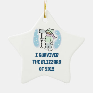 I survived the blizzard of 2012 christmas tree ornament