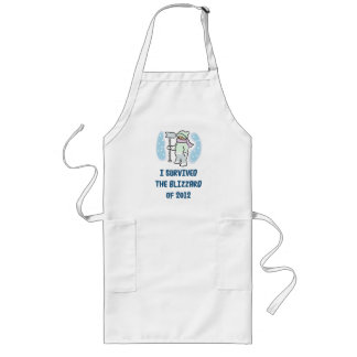 I survived the blizzard of 2012 long apron