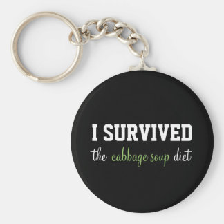 I Survived the Cabbage Soup Diet Keychain