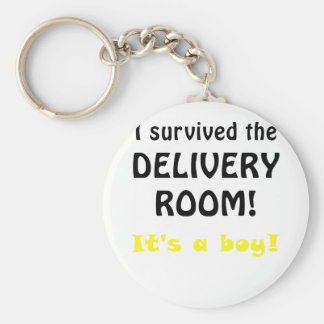 I Survived the Delivery Room Its a Boy Key Chain