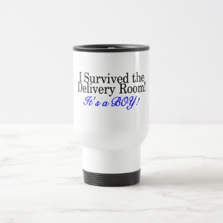 I Survived The Delivery Room Its A Boy Stainless Steel Travel Mug