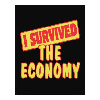I SURVIVED THE ECONOMY 21.5 CM X 28 CM FLYER