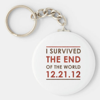 I Survived the end of the World 12.21.12 Basic Round Button Key Ring