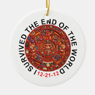 I Survived The End of the World Christmas Ornament