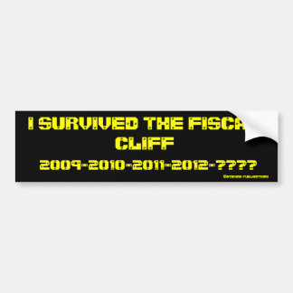 I survived the fiscal cliff bumper sticker