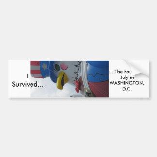 I Survived..., ...The Fourth ... Bumper Sticker