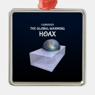 I Survived The Global Warming Hoax Christmas Ornament