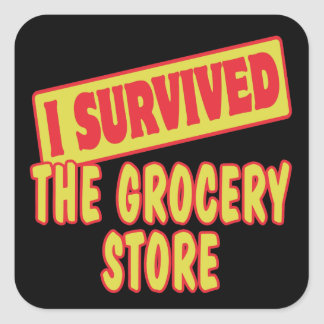 I SURVIVED THE GROCERY STORE STICKERS